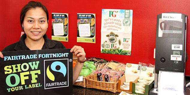 Catering staff during Fairtrade Fortnight
