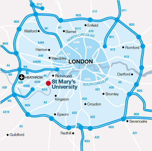 Location and campus maps – Map of London Uk