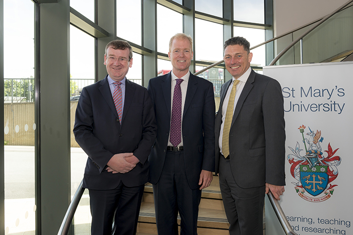 Prof Francis Campbell, Cllr Paul Hodgins and Sean Ellis