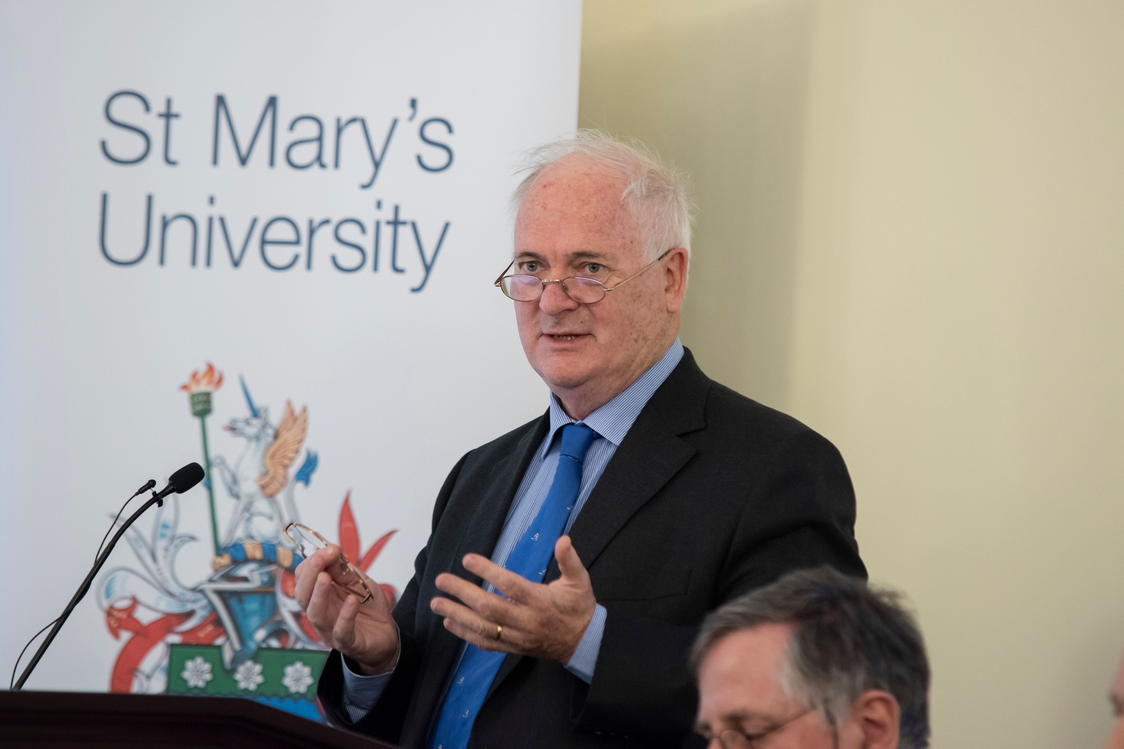 Image: Former Irish PM delivers lecture at the St Mary's Institute of Theology
