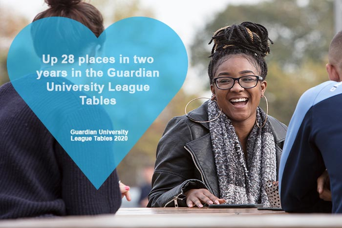Image: St Mary's League Table Rise Continues in 2020 Guardian University Guide