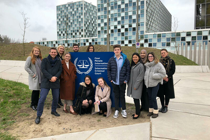 Law Students from St Mary's Visit the Hague
