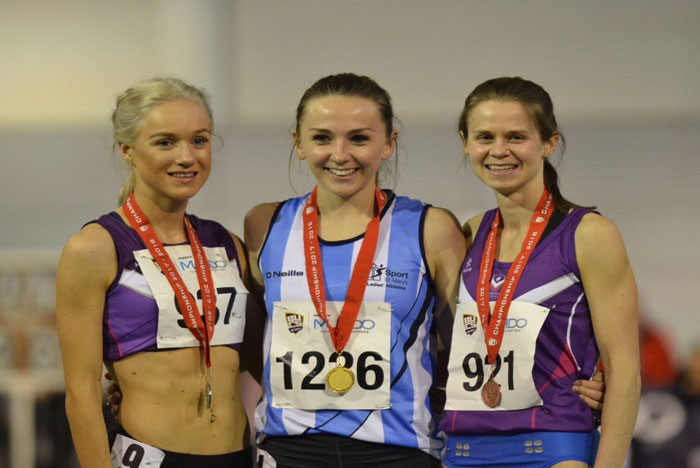 Emily Hosker-Thornhill picked up Gold in the Women's 3000m race at the BUCS Indoor Championships