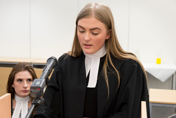 St Mary's Law Students Take Part in Mock Trial