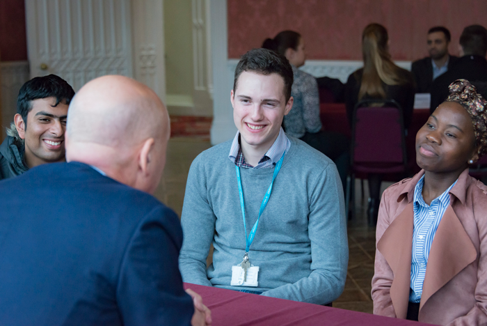 Business students meet Top Executives at Networking Events