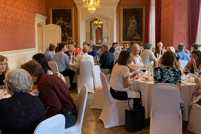 Delegates attend gala dinner in the Waldegrave Drawing Room.