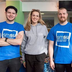 St Mary's University students union team at a stand during an Open Day